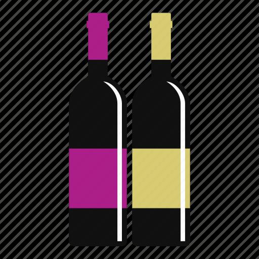 alcohol, beverage, blank, bottle, drink, white, wine icon