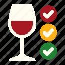 wineglass, guarantee, clarification, high quality, quality, wine, winemaking icon