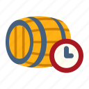 fermenting, production, fermentation, wine barrel, winery, manufacturing, winemaking icon