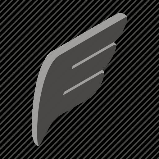 Design, element, isolated, isometric, logo, logotype, wing icon - Download on Iconfinder