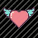 angel, cupid, heart, hearts, love, wing, wings
