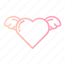 cupid, heart, love, romance, valentines, wedding, wings icon