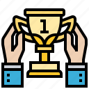 first, position, prize, trophy, winner icon