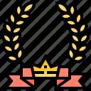 award, certificate, decoration, laurel, wreath