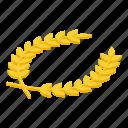 laurel, wreath, isometric