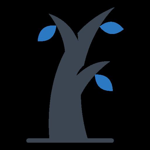 leaf, tree, winter icon