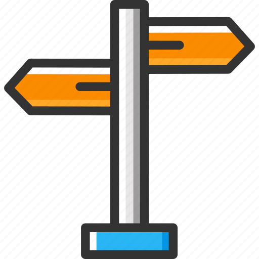 direction sign, directional, directions, sign post icon