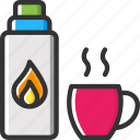flask, liquid, thermo, thermos, tools and utensils icon