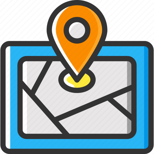 gps, location pointer, map, pin, position icon