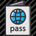 holidays, international, passport, summer, vacation icon