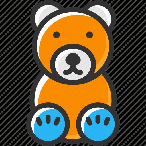 bear, gift, teddy bear, toy, toys icon