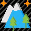 landscape, mountain, mountains, scenery, trees icon