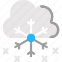 cloud, snow, snowflake, snowflakes, winter icon