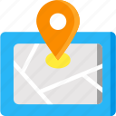 gps, location pointer, map, pin, position