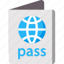 holidays, international, passport, summer, vacation icon