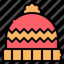 beanie, hat, cap, wool, pompom, winter, fashion