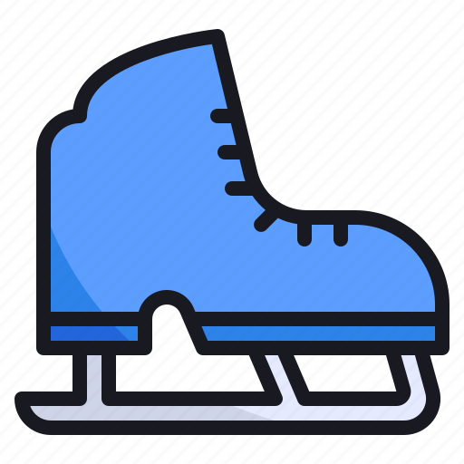cold, ice, shoe, skate, skating, snow, winter icon