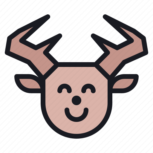 animal, christmas, deer, gift, reindeer, santa, winter icon