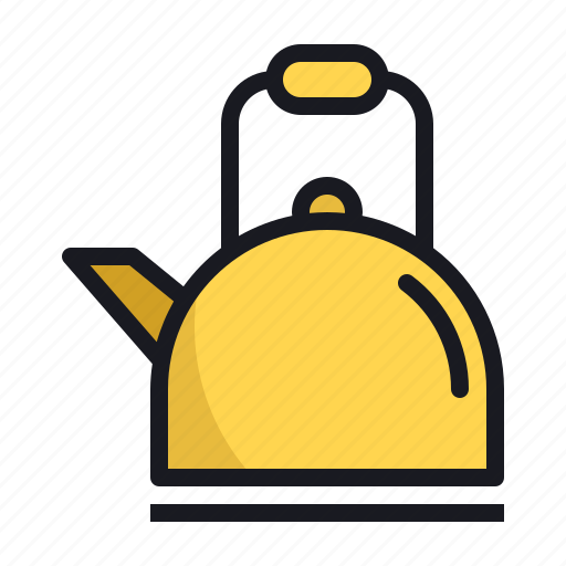 cold, hot, kettle, kitchen, season, teapot, winter icon