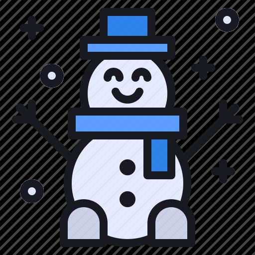 cold, frozen, man, season, snow, snowman, winter icon
