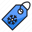 discount, price tag, sale, shop, shopping, snowflake, winter icon