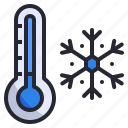 cold, freeze, snow, snowflake, temperature, thermometer, winter