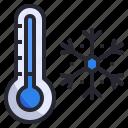 cold, freeze, snow, snowflake, temperature, thermometer, winter icon