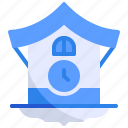 alarm, clock, cuckoo, retro, season, time, winter icon