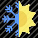 season, snow, snowflake, sun, sunny, weather, winter