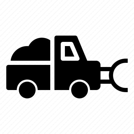 car, cold, plow, snow, truck, vehicle, winter icon