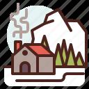 house, season, cold, winter, snow