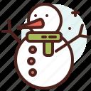 snowman, season, cold, winter, snow