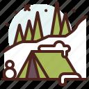 tent, season, cold, winter, snow