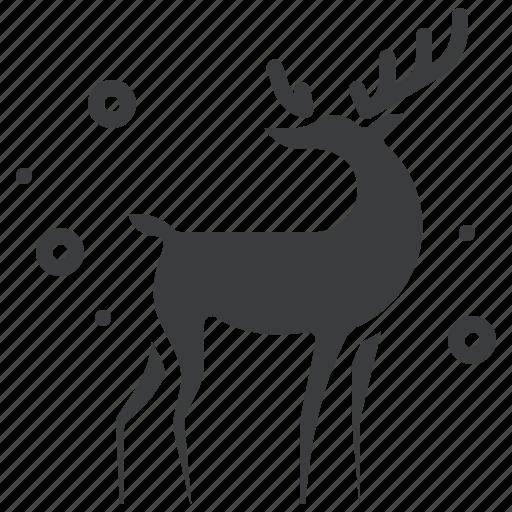 christmas, deer, new year, rein, rudolph, santa, winter icon