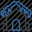 freeze, house, snow, winter icon
