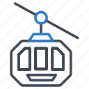 teleski, transportation, winter icon