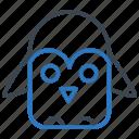animal, penguin, pole, winter icon