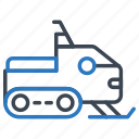 snowmobile, transportation, winter icon