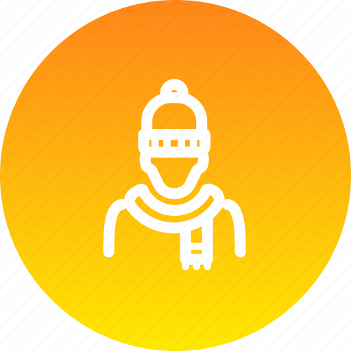 avatar, beanie, cold, knitted, scarf, winter, wool icon