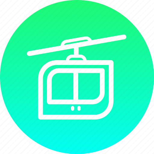 cable, car, journey, rope, transport, travel icon