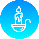 candle, christmas, lamp, light, new year, night, wax icon