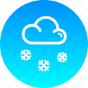 christmas, cloud, new year, snow, snowfall, winter icon
