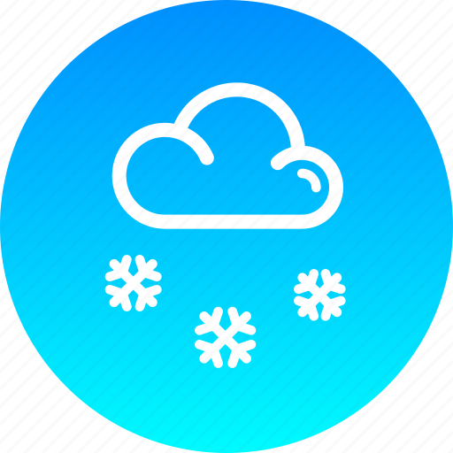 christmas, cloud, new year, snow, snowfall, winter icon