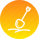 dig, farming, gardening, mud, shovel, snow, tool icon