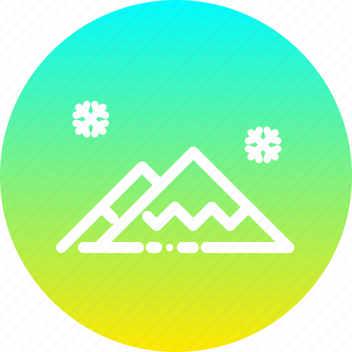 Hills, landscape, mountain, scenery, snow, winter icon - Download on Iconfinder