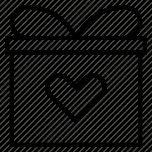 box, gift, heart, present icon