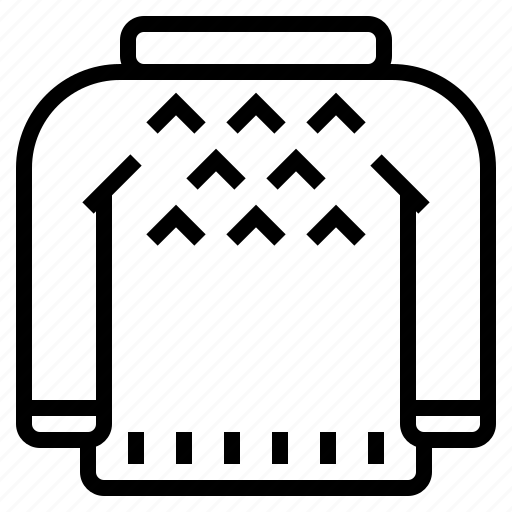 clothing, sweater icon