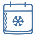 calendar, christmas, december, new year, season, snow, winter icon