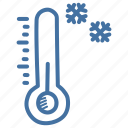 cold, forecast, snow, temperature, thermometer, weather, winter icon