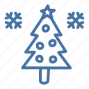 celebration, christmas, decoration, snow, star, tree, winter icon